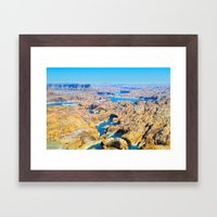 Soaring Over Turquoise and Sandstone IX Framed Art Print