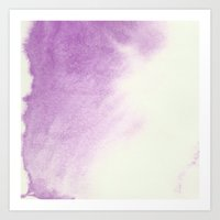 purple watercolor Art Print