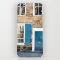 Teal Doors iPhone & iPod Skin