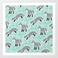 Socks The Fox - Dusk Art Print