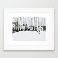 Dribbling Houses Framed Art Print