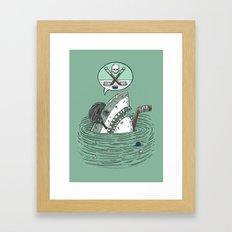 The Enforcer Shark Framed Art Print