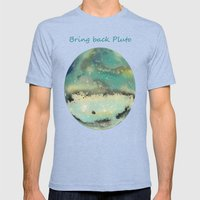 Postcards From Pluto 2 Mens Fitted Tee Tri-Blue SMALL