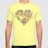 ONLY POSSESSED GIRLS DIDDLE Mens Fitted Tee Lemon SMALL
