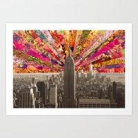 BLOOMING NY Art Print