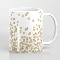 Gold Glitter Dots in scattered pattern Mug