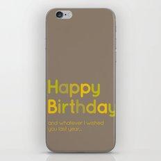 Happy Birthday iPhone & iPod Skin