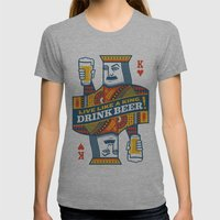 King Of Beers Womens Fitted Tee Athletic Grey SMALL