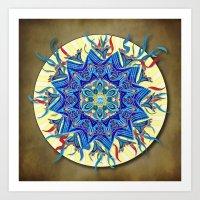 Smiling Mandala Art Print