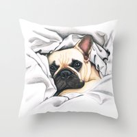 French Bulldog - F.I.P. … Throw Pillow