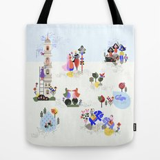 Indian miniature interpreted Tote Bag