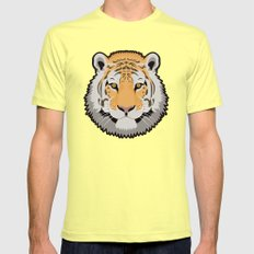 The Wild Ones: Siberian Tiger Mens Fitted Tee Lemon SMALL