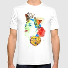 New Bear White SMALL Mens Fitted Tee