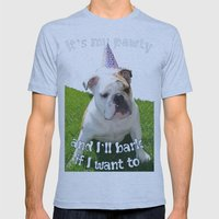 It's My Pawty  Mens Fitted Tee Athletic Blue SMALL