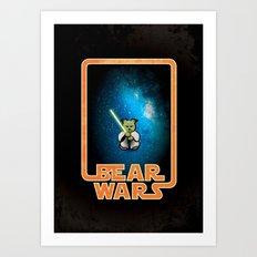 Bear Wars - the Wise One Art Print