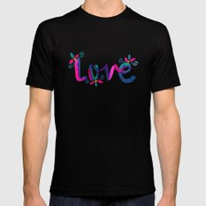 Love SMALL Mens Fitted Tee Black