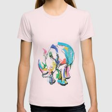 Rhino colour Womens Fitted Tee Light Pink SMALL