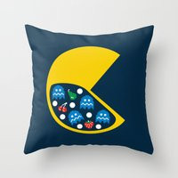 8-Bit Breakfast Throw Pillow