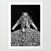 Texas Chainsaw Astronaut… Art Print