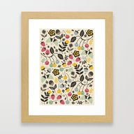 Framed Art Print featuring Very Berry by Poppy & Red
