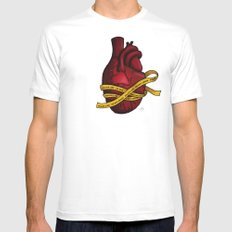 Heart of a Crime Scene Mens Fitted Tee White SMALL