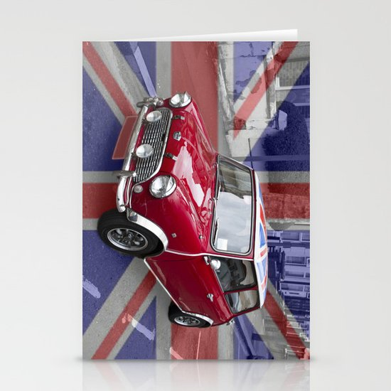 British Classic Mini car Stationery Card