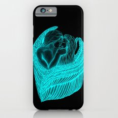 Angels Kissing in green and black design iPhone 6 Slim Case