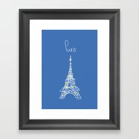 Belle à Paris Framed Art Print