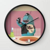 Bathroom selfie Wall Clock