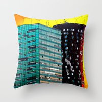 Gran Via Sunset Throw Pillow
