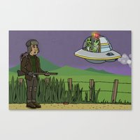 The UFO Canvas Print