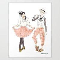 Fashion Journal: Day 2 Art Print