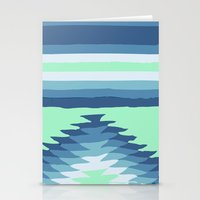 MINT SURF GIRL Stationery Cards