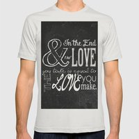 & In The End, The Love Y… Mens Fitted Tee Silver SMALL