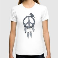 A dreamcatcher for peace Womens Fitted Tee White SMALL