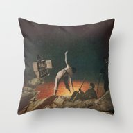 Throw Pillow featuring Galactic Exercise by Dan Howard