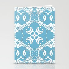 Blue Leaf Lace  Stationery Cards