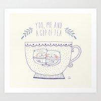 You Me And A Cup Of Tea Art Print