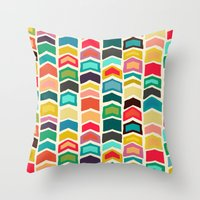Arrow Pop Ivory Throw Pillow