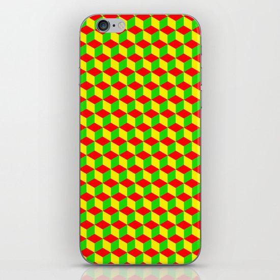 Cubed - Rasta iPhone & iPod Skin