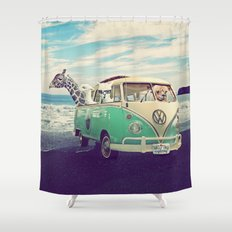NEVER STOP EXPLORING THE… Shower Curtain