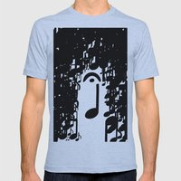 Musical Rain Mens Fitted Tee Athletic Blue SMALL