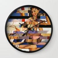 Glitch Pin-Up Redux: Sophia Wall Clock