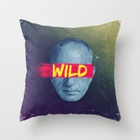Vintage Quotes Collection -- Wild Throw Pillow