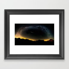 Milky Way & Perseid Meteor Shower - Joshua Tree 2016 Framed Art Print