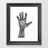 Hand That Feeds Framed Art Print
