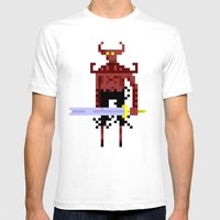Pixel Devil! Mens Fitted Tee White SMALL