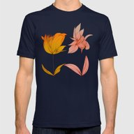 Flowers  Mens Fitted Tee Navy MEDIUM