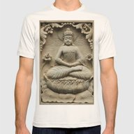 Buddha Mens Fitted Tee Natural SMALL