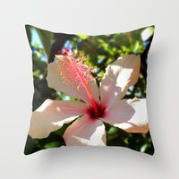 Hibiscus IV Throw Pillow